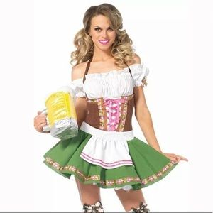 Size Small Gretchen Beer Girl Costume w Stockings